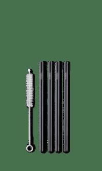 REuseable short straw - matte black fra Ayaida.
