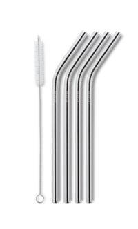 Reuseable smoothie straw - silver fra ayaida
