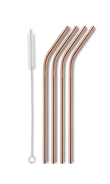 Reusable drinking straw - rose gold fra ayaida